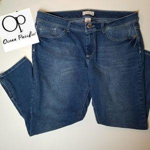 OP Ocean Pacific Juniors Ankle Zip Crop Jeans 17